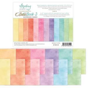 Bilde av Mintay - 6x8 paper pad - Basic Book 03 - Backgrounds - Rainbow