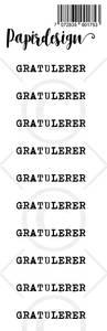 Bilde av Papirdesign - Transparent Stickers - 1900175 - Gratulerer